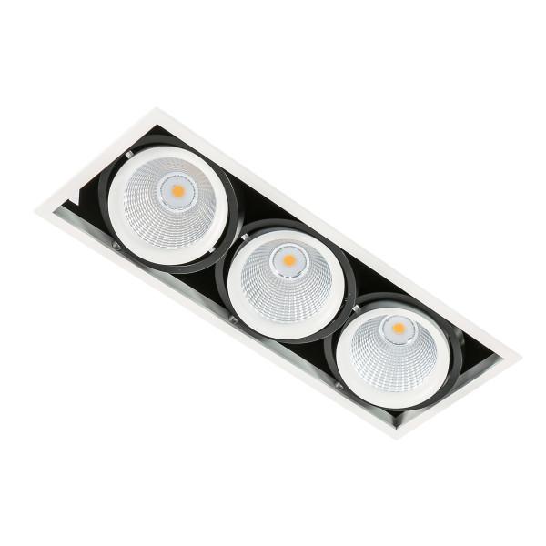 Downlight wpuszczany GL7108-3/3X18W 3000K WH+BL VERTICO od Italux