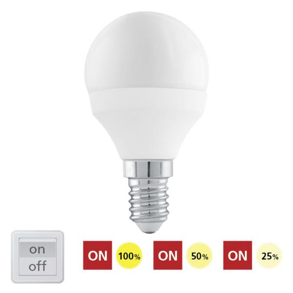 Żarówka LED 6W 470lm E14 3000K STEP DIMMING z wbudowanym ściemniaczem 11583 od EGLO