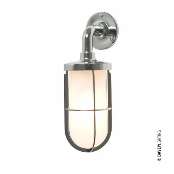 Lampa ścienna DP7207/CP/FR/E27 7207 WEATHERPROOF SHIP'S WELL GLASS LIGHT od Davey Lighting