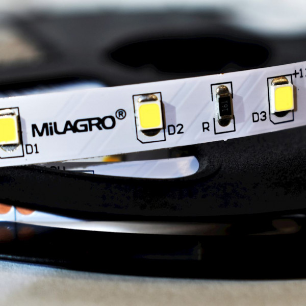Pasek LED Pro 5m 60/1mb 24W/500cm Zimna biała 6000K IP20 od Milagro