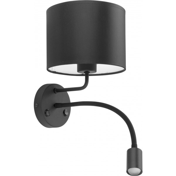Kinkiet MIA BLACK 4281 2x1x60W/E27 + 1x10W/GU10/E27, GU10 od TK Lighting